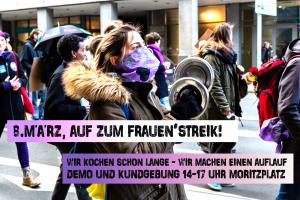 8. März, auf zum Frauen*streik 2020 ! @ Moritzplatz